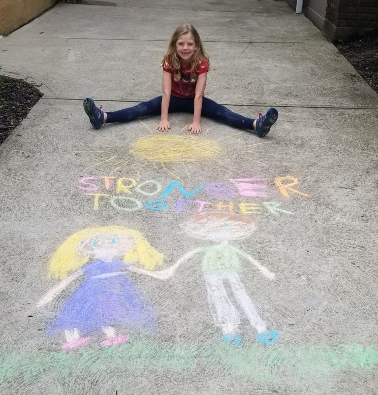 Chalk Art Contest winner